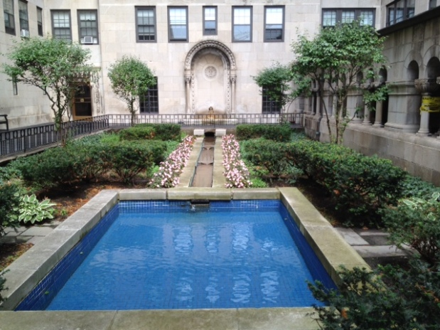 Our courtyard in Hyde Park